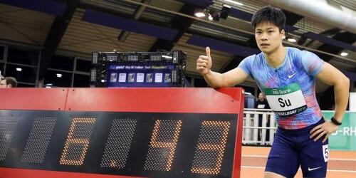 6秒43!苏炳添夺得杜塞尔多夫室内赛男子60米冠军