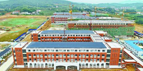 浏阳在建最大学校主体完工