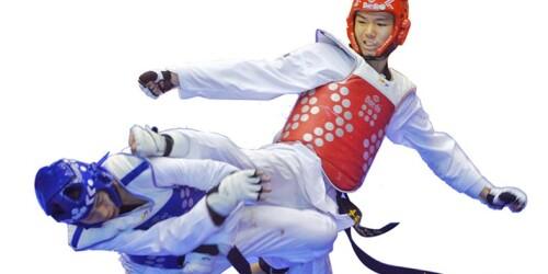 省运会跆拳道项目精彩一瞬