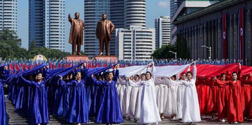 朝鮮舉行閱兵集會慶祝建國70周年