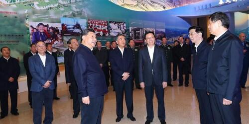 """习近平等党和国家领导人参观""""伟大的变革——庆祝改革开放40周年大型展览"""""""
