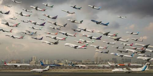 震撼!摄影师耗时两年拍各地空中交通