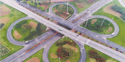浏阳首座全互通立交桥建成通车