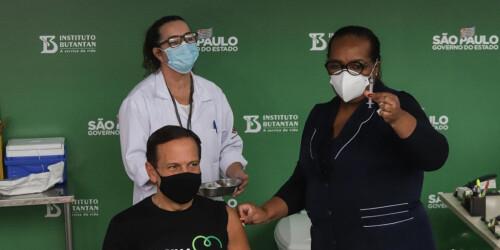 巴西圣保罗州州长接种中国科兴疫苗