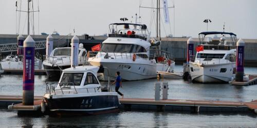 首届中国国际消费品博览会游艇展开幕