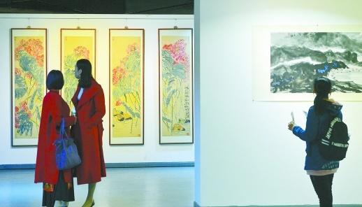 """""""传统与发展——喻文辉中国画展""""长沙开展"""