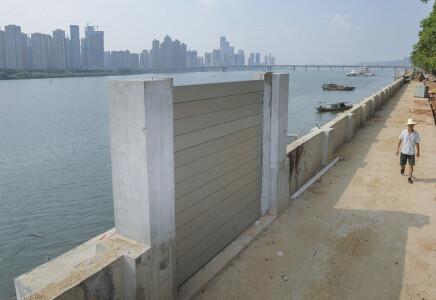 湘江东岸防洪堤加高改造工程完工