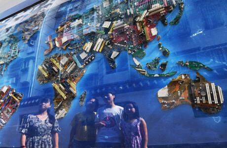 百米文化墙宣传垃圾分类