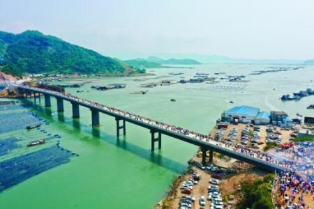 福建霞浦东安岛海防大桥正式通车