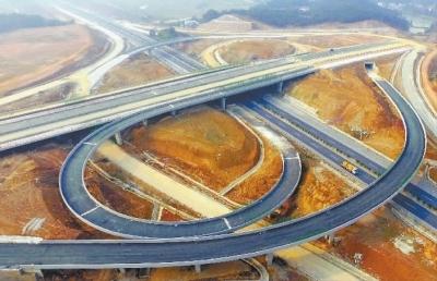 万家丽北路与绕城高速互通项目主体完工