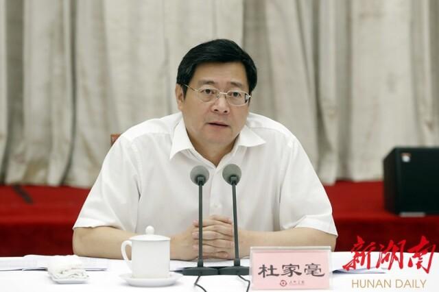 杜家毫主持并讲话。湖南日报记者 罗新国 摄