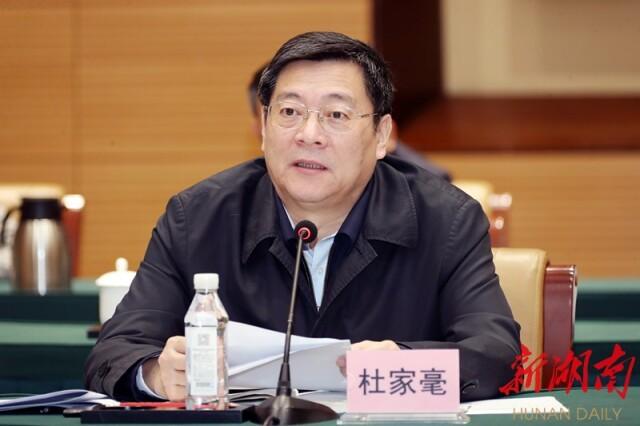 省委书记杜家毫作表态讲话。以上图片均为湖南日报·新湖南客户端记者 罗新国 摄