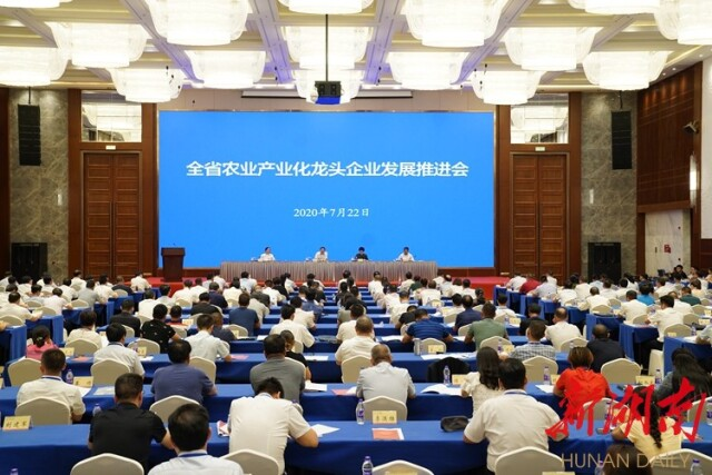 湖南省农业产业化龙头企业发展推进会召开 杜家毫讲话