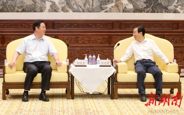 省政府与中国中车集团会谈 许达哲出席