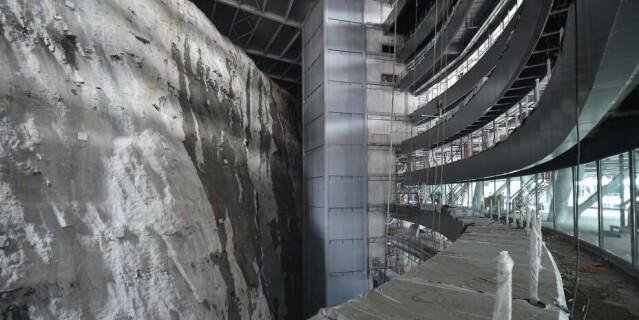 """上海""""深坑酒店""""内景露真容 被誉为世界建筑奇迹"""