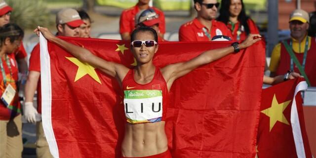 第22金!女子20公里竞走中国选手刘虹夺冠