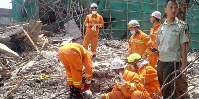 四川阆中在建楼盘支模架垮塌 已致6死4伤