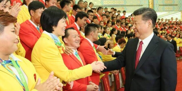 习近平等会见里约奥运会中国体育代表团全体成员
