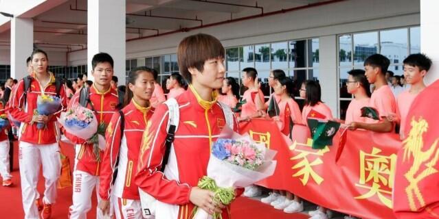 里约奥运会国家奥运精英代表团抵达澳门