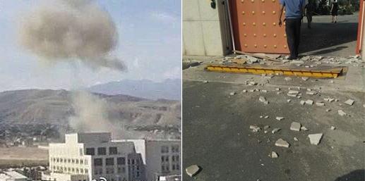 中国驻吉尔吉斯大使馆遭汽车炸弹袭击现场