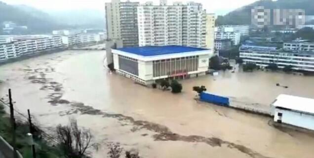 陕西中部遭遇特大暴雨袭击 有水库决堤
