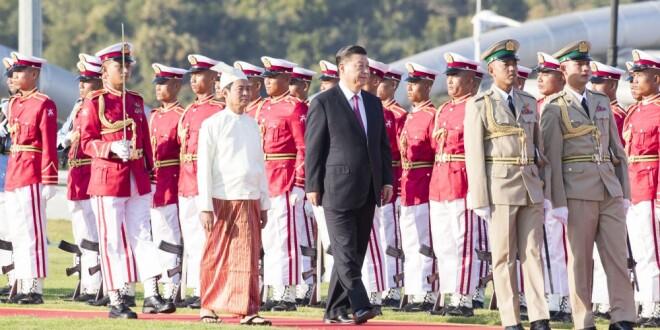 高清大图 习主席新年首访 缅甸最高规格迎接!