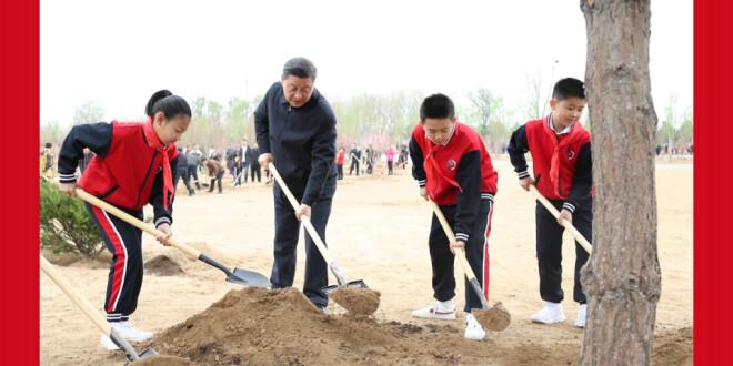 党和国家领导人参加首都义务植树活动