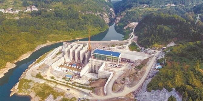 落水洞水电站一期即将完工