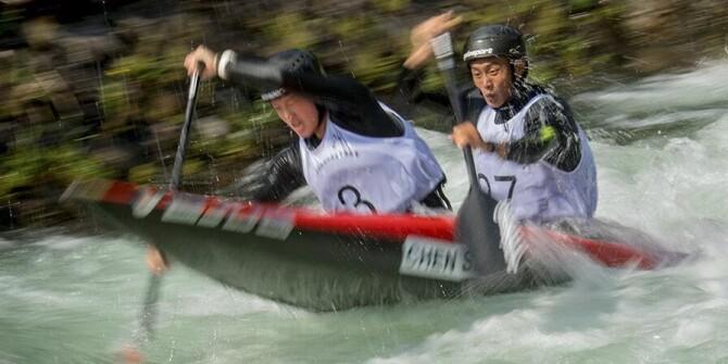 张家界:全国皮划艇激流回旋青年锦标赛开赛