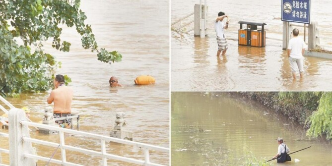 洪水期间江边活动要注意安全