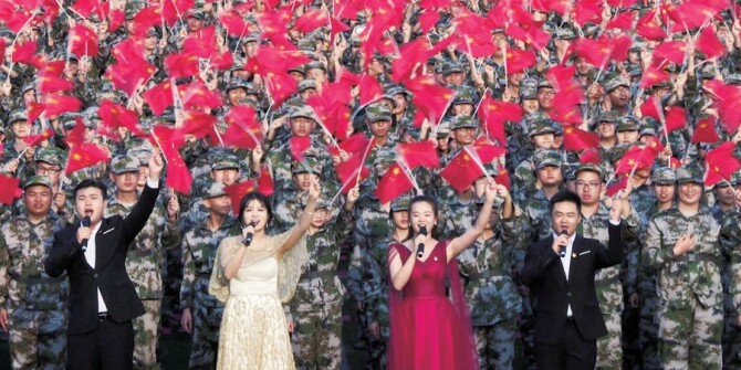"""与国旗""""同框"""" 为祖国歌唱"""