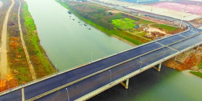 """长沙黄兴大桥""""姊妹桥""""建成"""