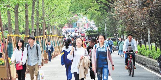 长沙韶山北路有了自行车专用道