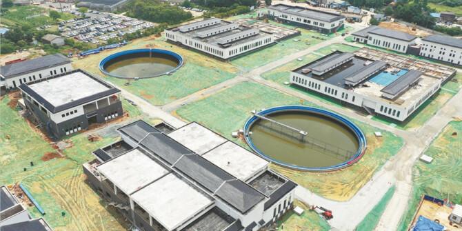 苏圫垸污水处理厂一期工程通水