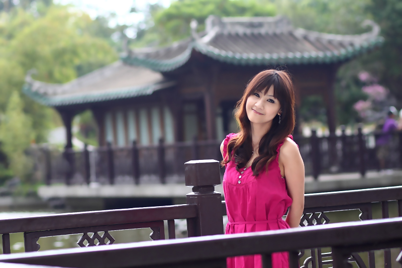 一池月浸紫薇花☆酒窝美女夏婉茹(127)
