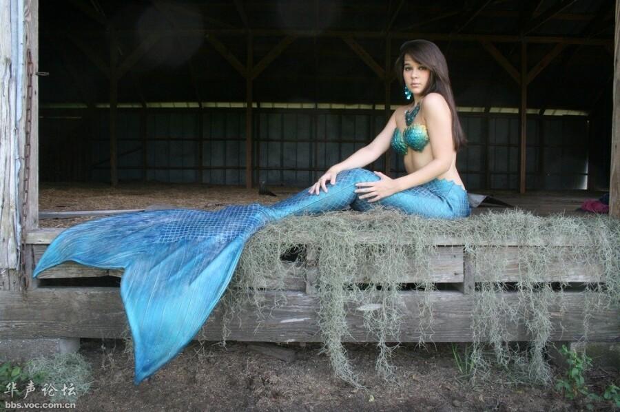 贴图外国美女 兰色的美人鱼 美女人体艺术