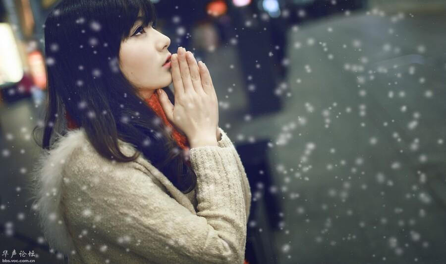 【美图共享】◆ 一个人的下雪天 美女人体艺
