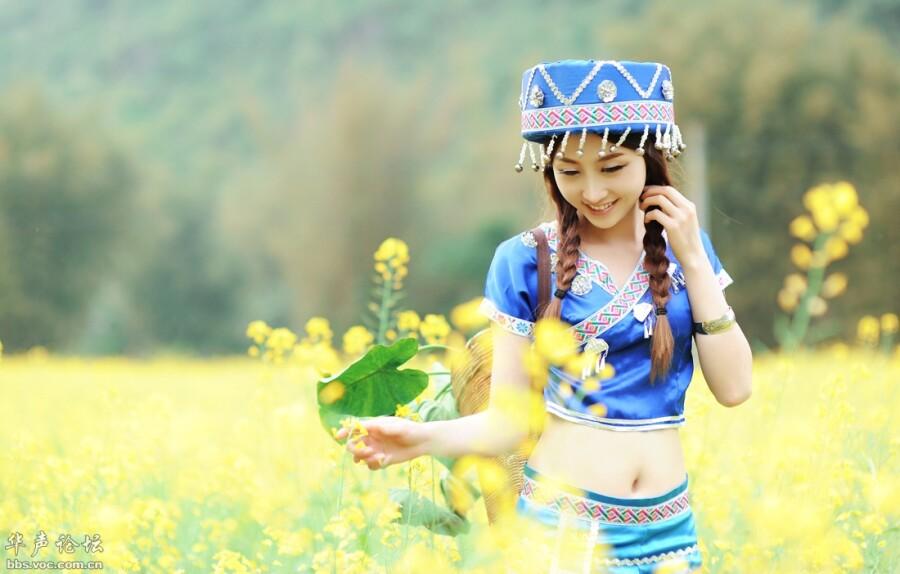 田园牧归农家女 美女人体艺术 美女诱惑