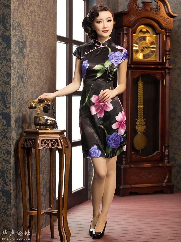 温婉美艳 复古怀旧旗袍美女 美女人体艺术