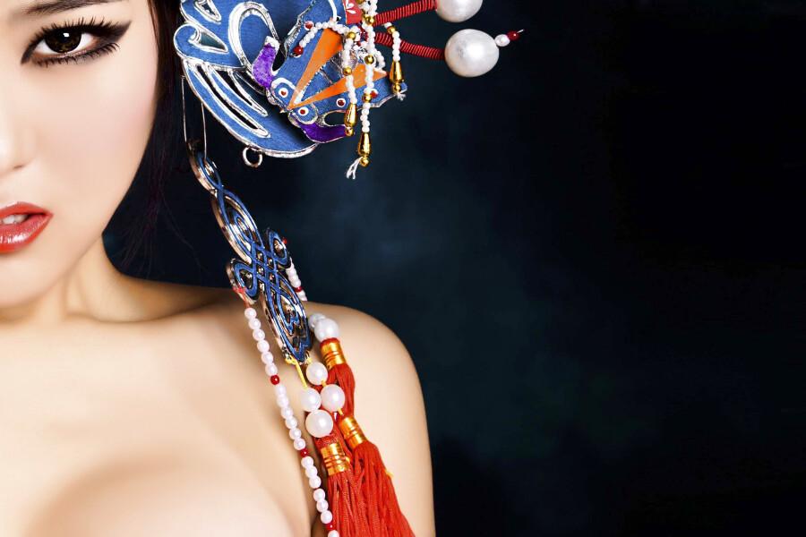 美女京剧造型妖媚写真 美女人体艺术