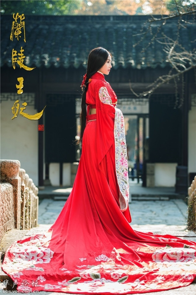 古装红衣美人兰陵王妃张含韵 美女人体艺术