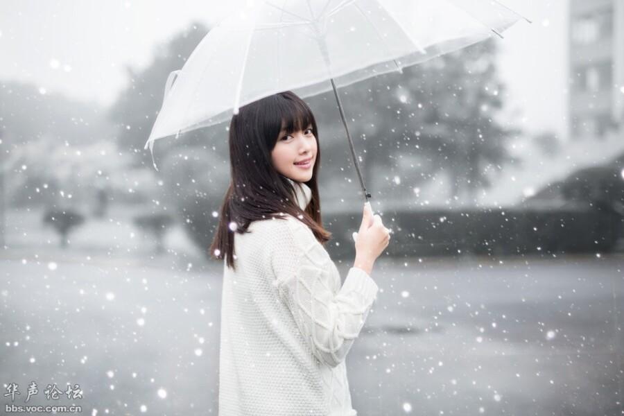 纯洁的雪中少女 - 春色满园 - 春色满园