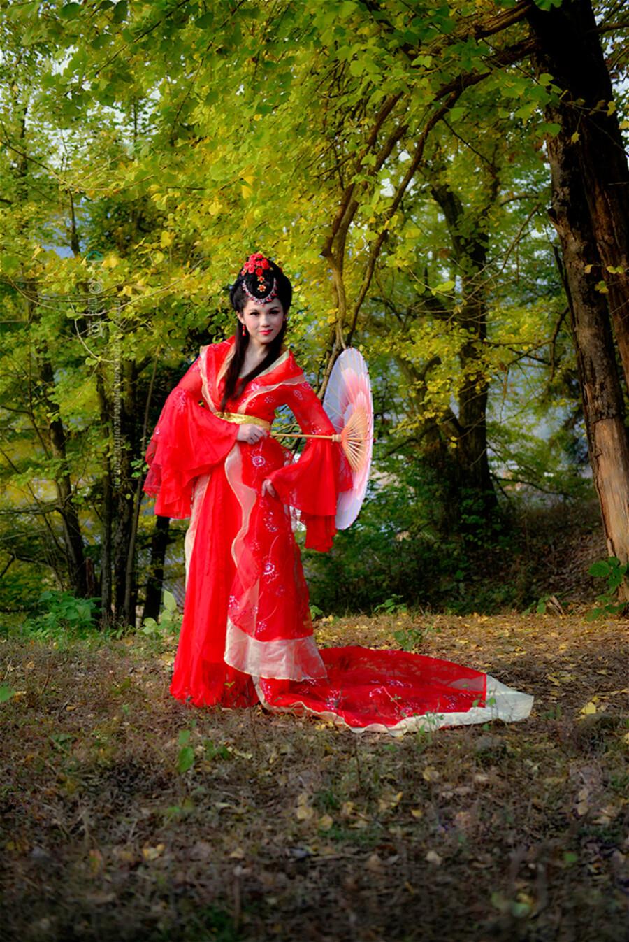【制作音画人物素材二篇】古韵◆~树树秋声 赤练仙子 - 浪漫人生 - .