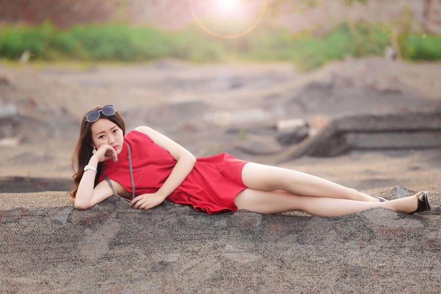 【现代时尚素材篇】红裙女孩 - 浪漫人生 - .