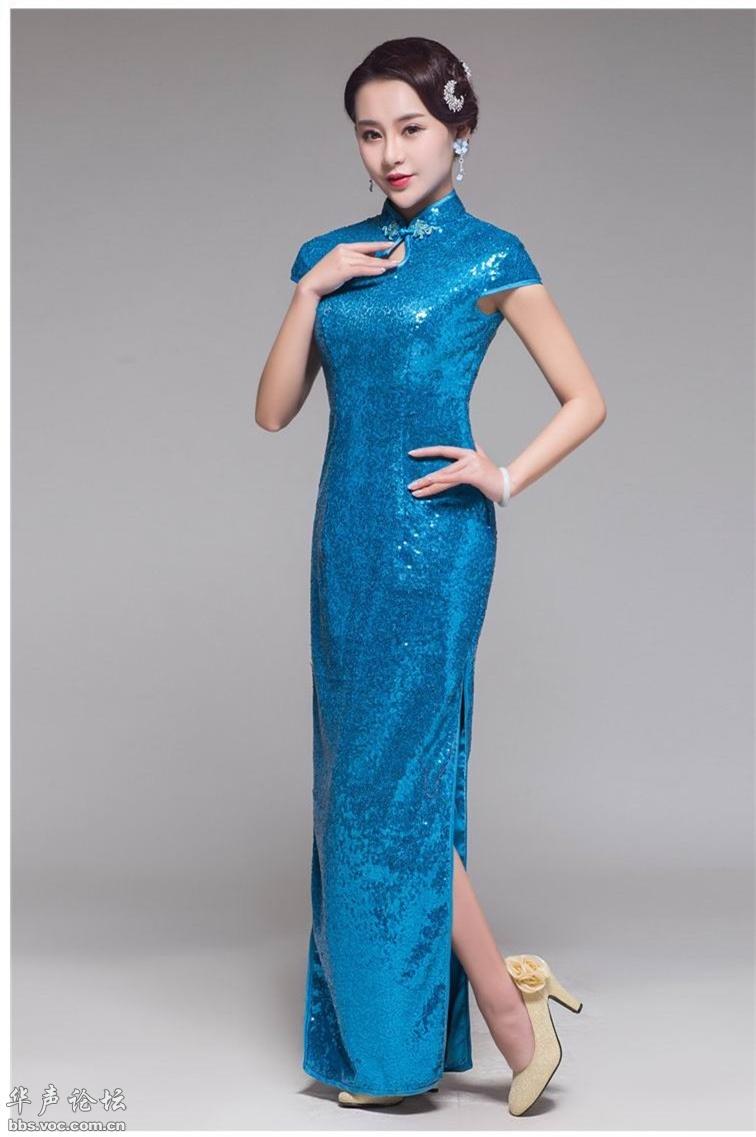 靓丽长旗袍 端庄优雅 - 花開有聲 - 花開有聲