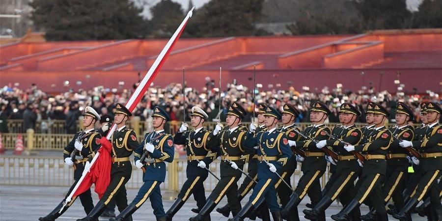 新时代 新仪式 新气象 人民解放军执行天安门广场升国旗仪式